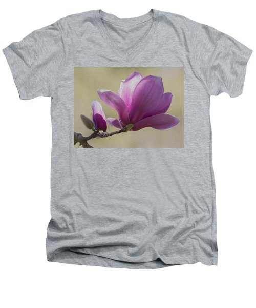 Magnolia Flower Men's V-Neck T-Shirt