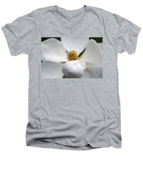 Magnolia Flower Men's V-Neck T-Shirt