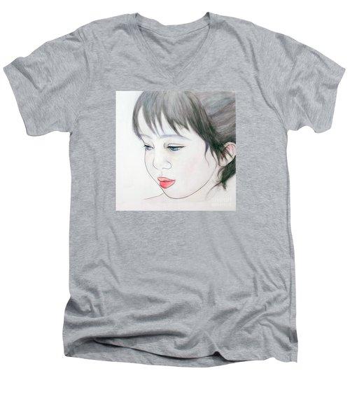 Manazashi Or Gazing Eyes Men's V-Neck T-Shirt