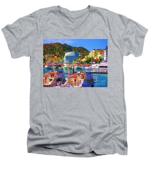 Marina Towards Pedregal Men's V-Neck T-Shirt