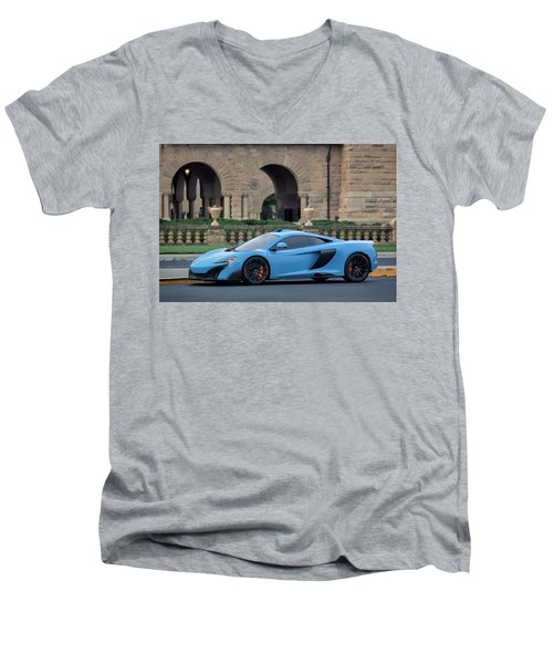 #mclaren #675lt With #pirelli #tires Men's V-Neck T-Shirt