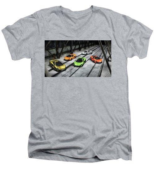 Mclaren Men's V-Neck T-Shirt
