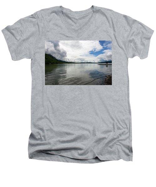 Mendenhall Lake Men's V-Neck T-Shirt