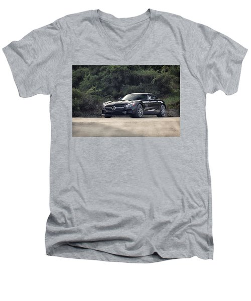 #mercedes #amg #gts Men's V-Neck T-Shirt