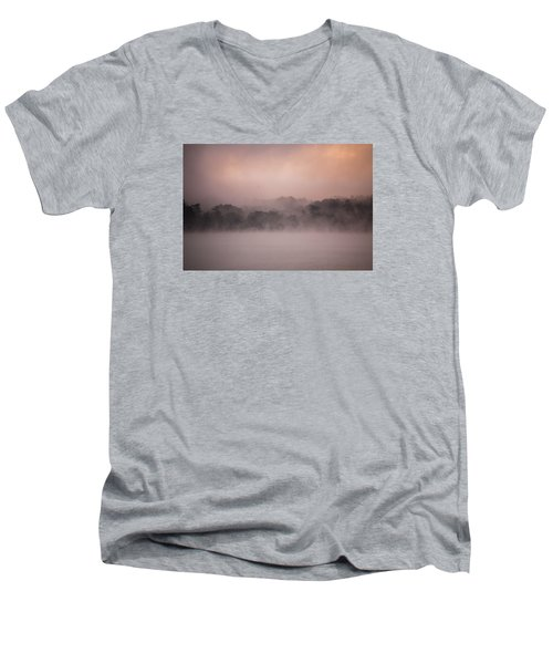 Men's V-Neck T-Shirt featuring the photograph Meredith New Hampshire by Robert Clifford