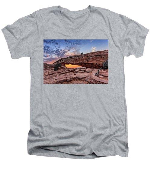 Mesa Arch At Sunrise Men's V-Neck T-Shirt