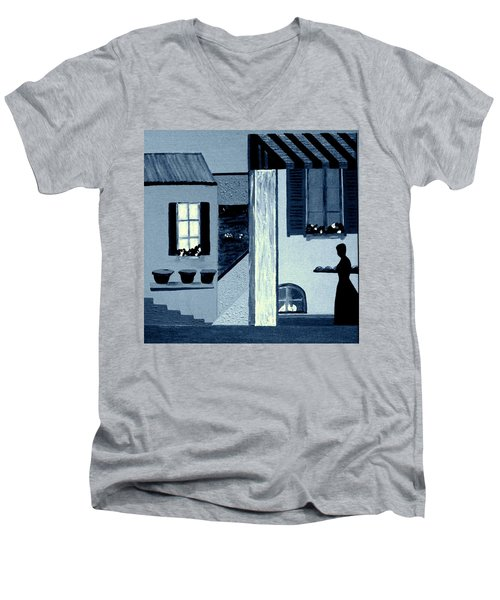 Midnight In Limoux Men's V-Neck T-Shirt by Bill OConnor