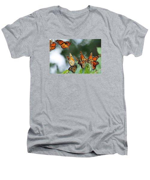Migration Of Monarchs Men's V-Neck T-Shirt