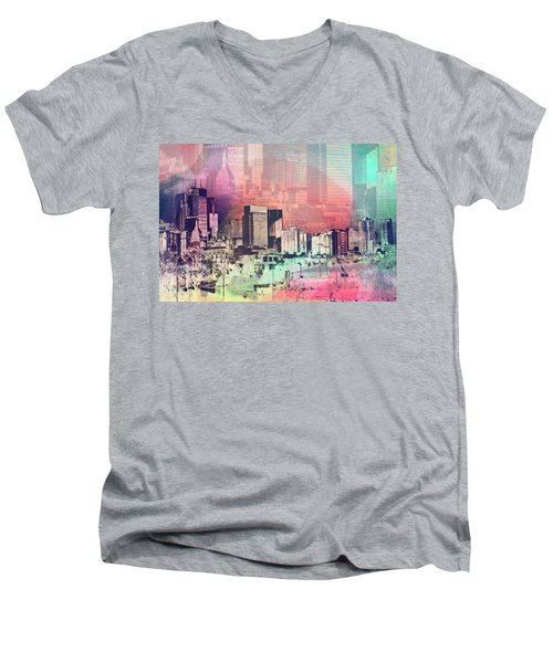 Minneapolis Skyline Men's V-Neck T-Shirt