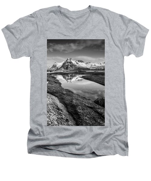 Mirror Men's V-Neck T-Shirt by Alex Conu
