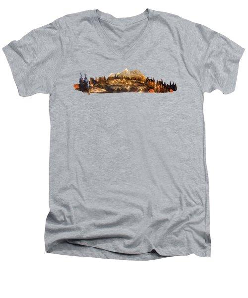 Mirror Finish Men's V-Neck T-Shirt by Troy Rider