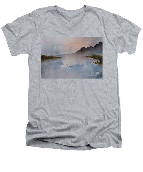 Mist Men's V-Neck T-Shirt by Annemeet Hasidi- van der Leij