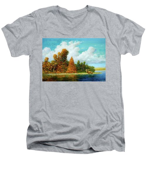 Moose Country Men's V-Neck T-Shirt