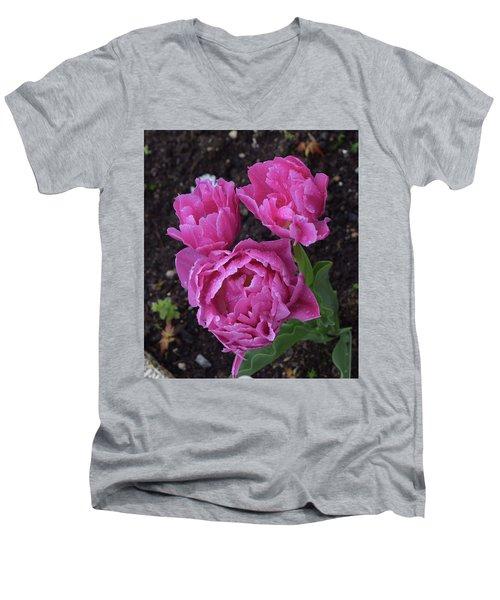 Morning Dew Drops Men's V-Neck T-Shirt