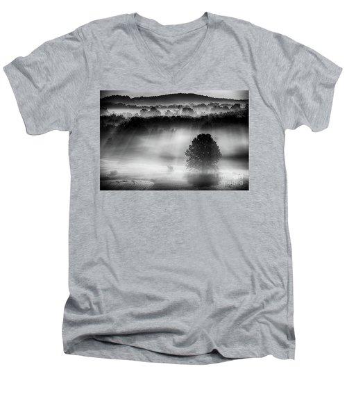 Morning Fog Men's V-Neck T-Shirt by Nicki McManus