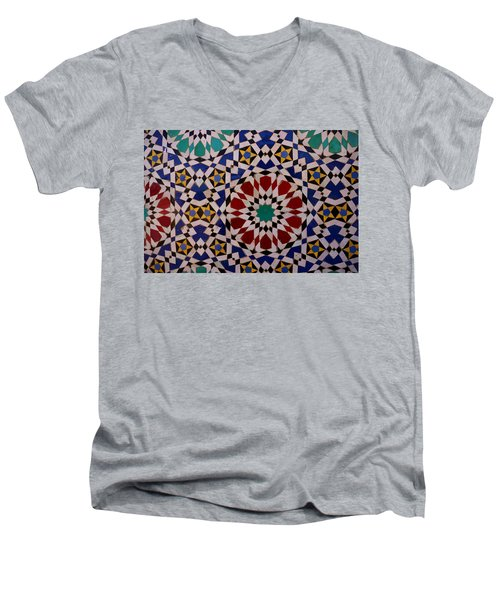 Mosaic Men's V-Neck T-Shirt