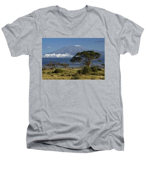 Mount Kilimanjaro Men's V-Neck T-Shirt