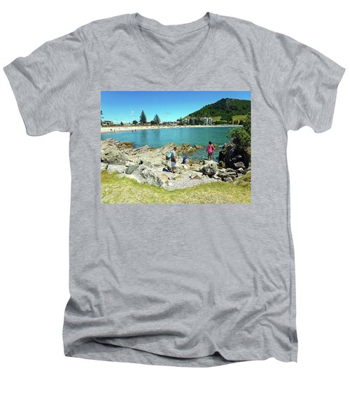 Mount Maunganui Beach 12 - Tauranga New Zealand Men's V-Neck T-Shirt