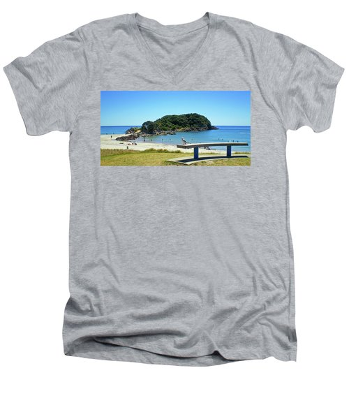Mount Maunganui Beach 4 - Tauranga New Zealand Men's V-Neck T-Shirt