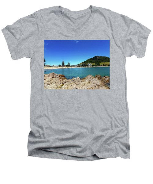 Mt Maunganui Beach 9 - Tauranga New Zealand Men's V-Neck T-Shirt