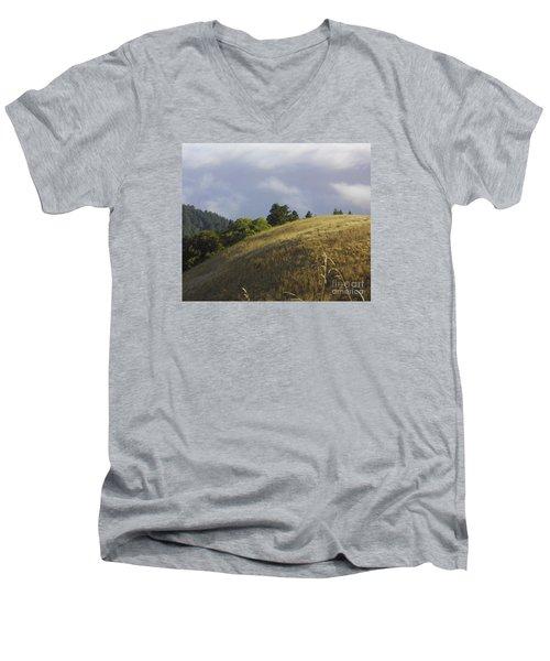 Mt. Tamalpais Study #1 Men's V-Neck T-Shirt