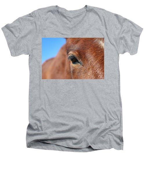 Mustang Macro Men's V-Neck T-Shirt