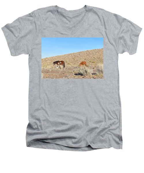 Mustangs Men's V-Neck T-Shirt