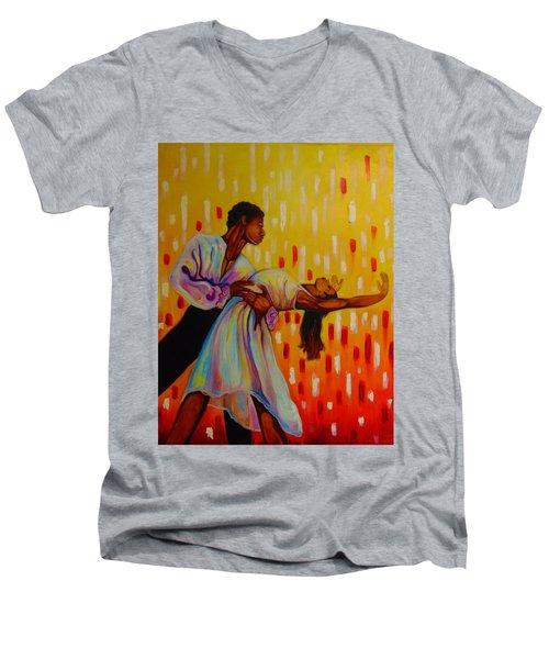 My Love Men's V-Neck T-Shirt by Emery Franklin