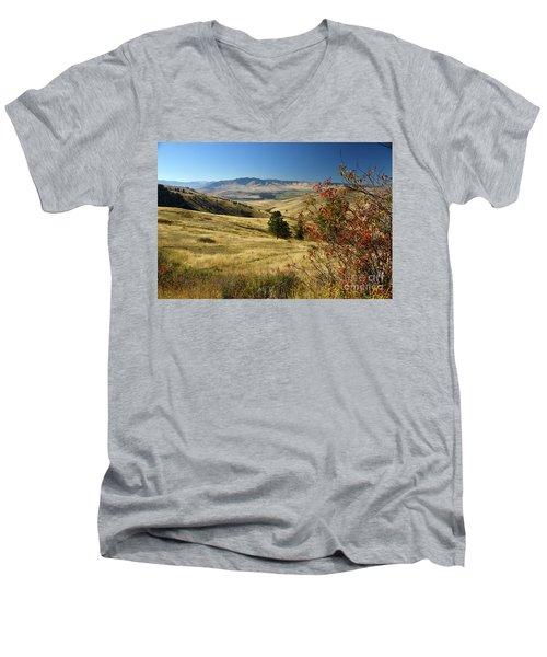 National Bison Range Men's V-Neck T-Shirt