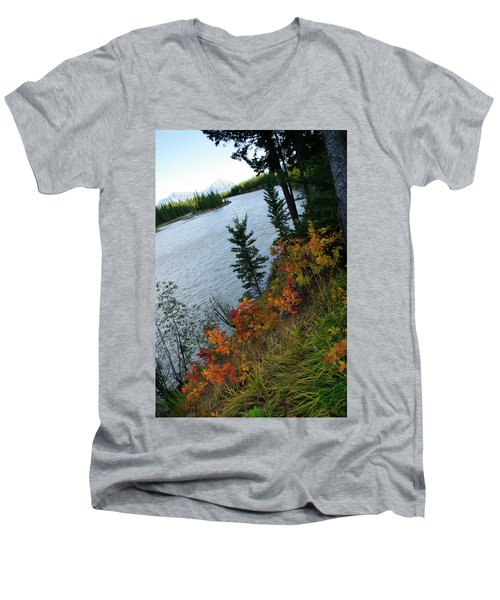 Natural Art Men's V-Neck T-Shirt by Rhonda McDougall