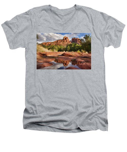 Nature's Cathedral Men's V-Neck T-Shirt