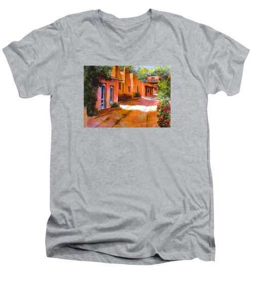 Near Canyon Road Men's V-Neck T-Shirt by Ann Peck