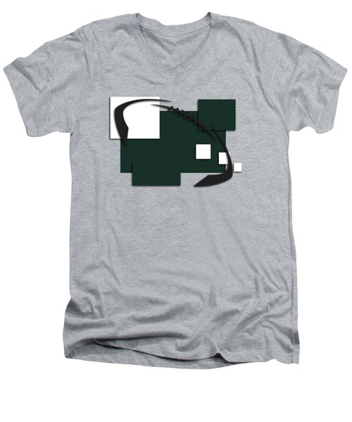 New York Jets Abstract Shirt Men's V-Neck T-Shirt