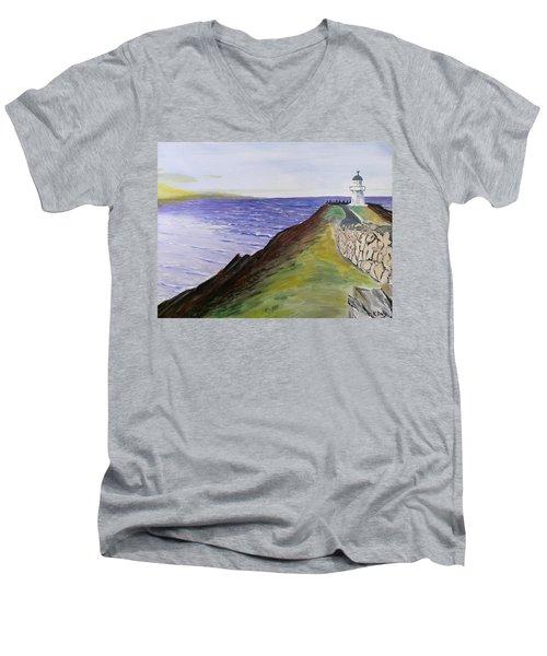 New Zealand Lighthouse Men's V-Neck T-Shirt