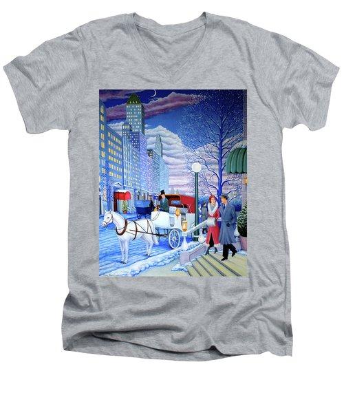 Nightfall Men's V-Neck T-Shirt by Tracy Dennison