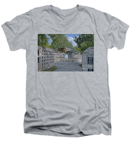 Nimitz Prop Fountain Men's V-Neck T-Shirt