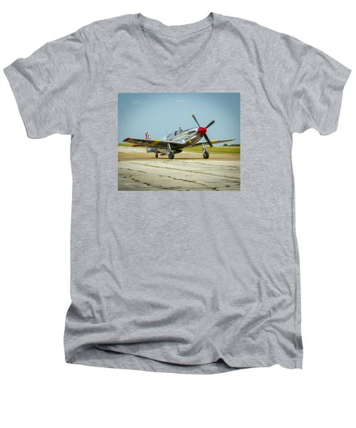 North American Tp-51c Mustang Men's V-Neck T-Shirt