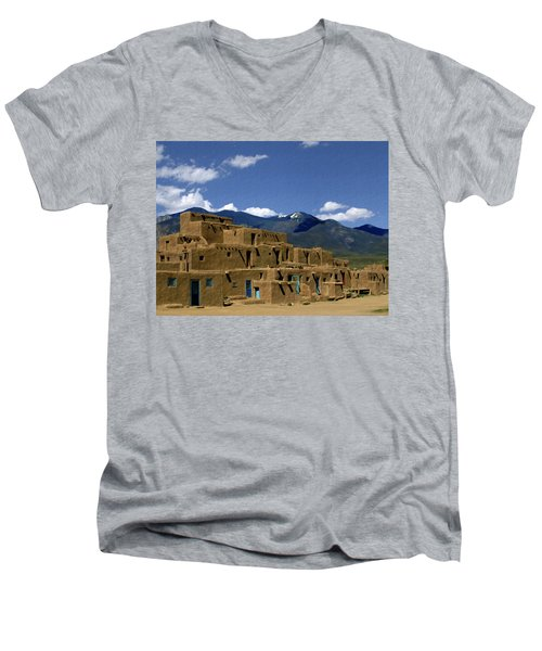 North Pueblo Taos Men's V-Neck T-Shirt