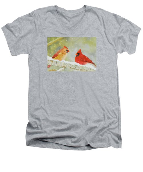 Northern Cardinals Men's V-Neck T-Shirt