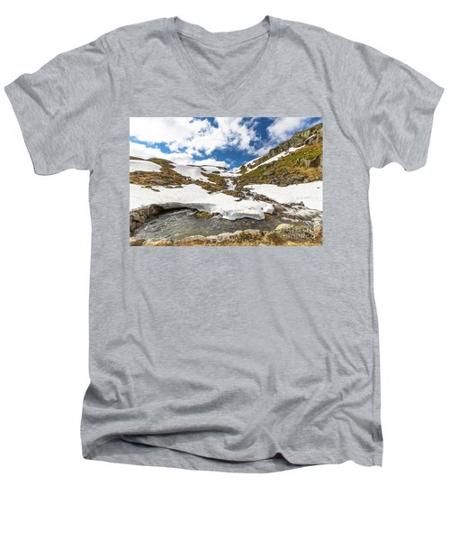 Norway Mountain Landscape Men's V-Neck T-Shirt