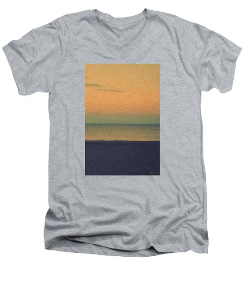 Not Quite Rothko - Breezy Twilight Men's V-Neck T-Shirt by Serge Averbukh