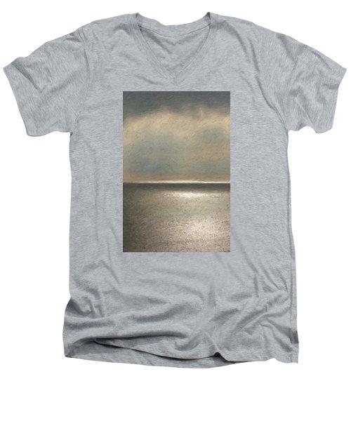 Not Quite Rothko - Twilight Silver Men's V-Neck T-Shirt by Serge Averbukh