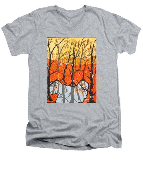 November Morning  Men's V-Neck T-Shirt by Jeffrey Koss