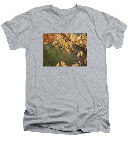 November Rain Men's V-Neck T-Shirt by Edwin Alverio