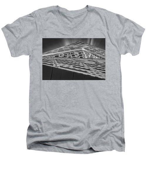 Men's V-Neck T-Shirt featuring the photograph Nyc West 57 St Pyramid by Susan Candelario