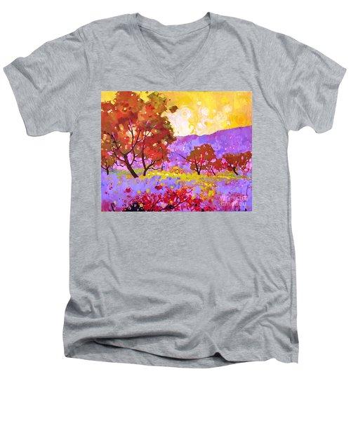 Oaks In Dream Men's V-Neck T-Shirt