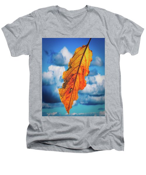 October Leaf B Fine Art Men's V-Neck T-Shirt