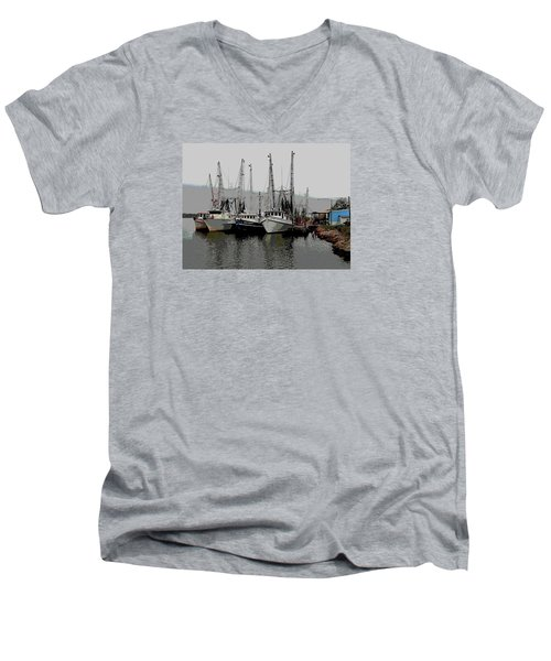 Men's V-Neck T-Shirt featuring the photograph Off Season by Laura Ragland