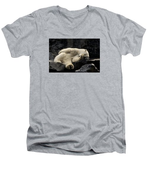 Oh What A Night Men's V-Neck T-Shirt by Michael Hubley