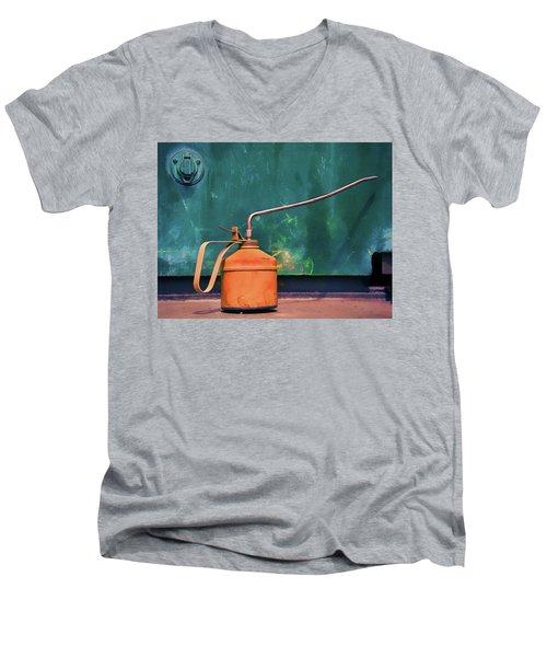 Oil Can On The Engine Men's V-Neck T-Shirt